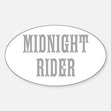 MIDNIGHT RIDER Sticker (Oval)