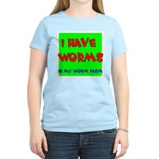 I have worms Women's Pink T-Shirt