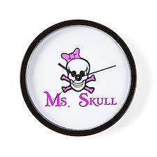 Ms. Skull Wall Clock