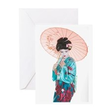shy geisha Greeting Card