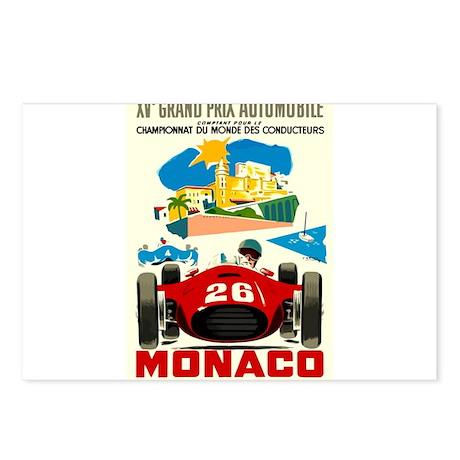 Vintage 1957 Monaco Grand Prix Auto Race Poster Po