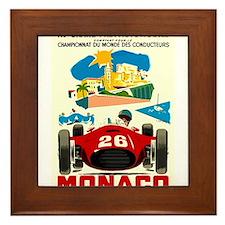 Vintage 1957 Monaco Grand Prix Auto Race Poster Fr