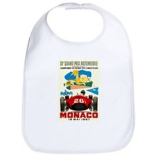Vintage 1957 Monaco Grand Prix Auto Race Poster Bi