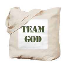 OD green Team God Tote Bag