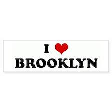 I Love BROOKLYN Bumper Bumper Sticker