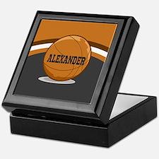 Stylish Custom Basketball Theme Keepsake Box