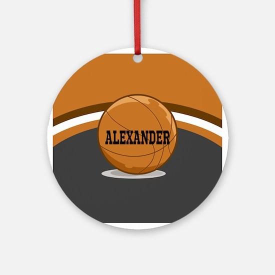 Stylish Custom Basketball Theme Ornament (Round)