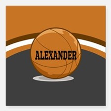 Stylish Custom Basketball Theme Square Car Magnet