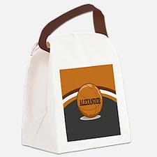 Stylish Custom Basketball Theme Canvas Lunch Bag