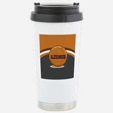 Stylish Custom Basketball Theme Travel Mug