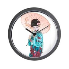 shy geisha Wall Clock