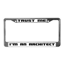 Unique Architects License Plate Frame