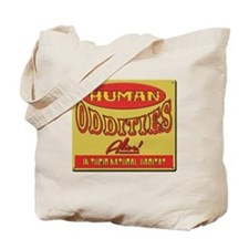 Human Oddities with faded background Tote Bag