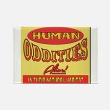 Human Oddities with faded background Magnets
