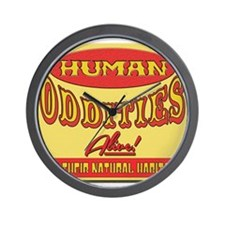 Human Oddities with faded background Wall Clock