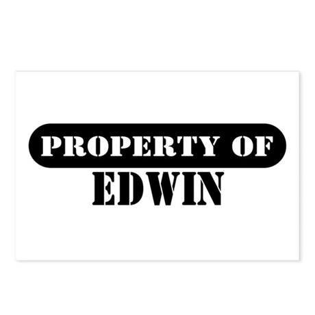 Property of Edwin Postcards (Package of 8)