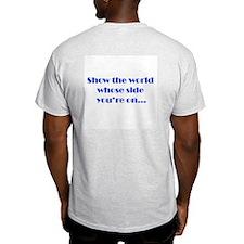 Blue Team God Ash Grey T-Shirt