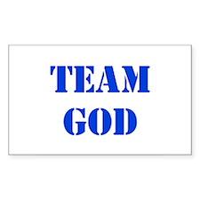 Blue Team God Rectangle Decal