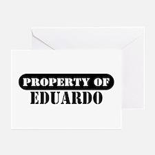 Property of Eduardo Greeting Cards (Pk of 10)
