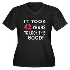 It Took 42 Birthday Designs Women's Plus Size V-Ne