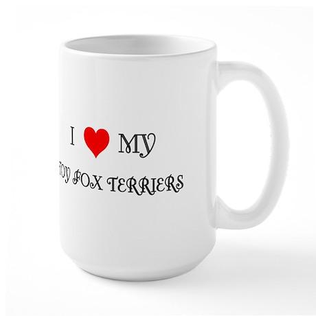 Tan & White Toy Fox Terrier Large Mug
