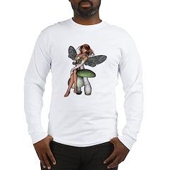 Fairy on a Mushroom Long Sleeve T-Shirt