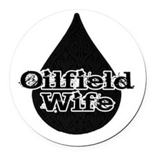 Oilfield Wife Oil Drop Round Car Magnet