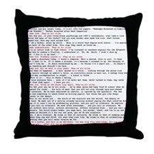 Hacker's Manifesto Throw Pillow