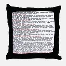 Hacker's Manifesto Throw Pillow