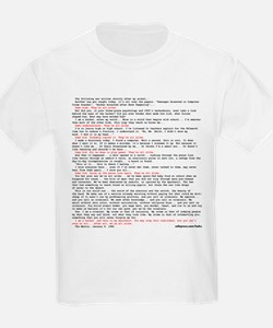 Hacker's Manifesto Kids T-Shirt