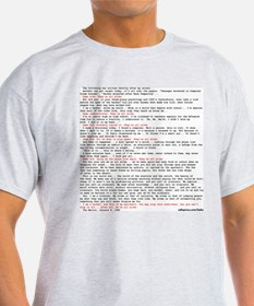Hacker's Manifesto Ash Grey T-Shirt