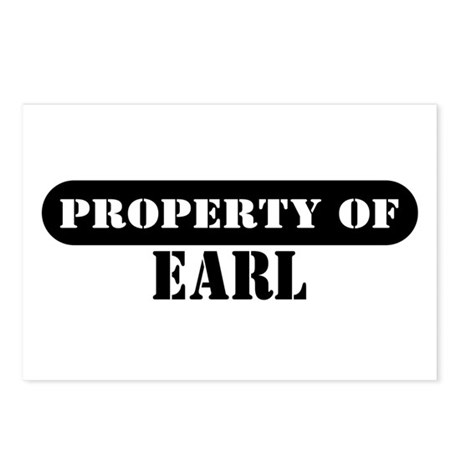 Property of Earl Postcards (Package of 8)