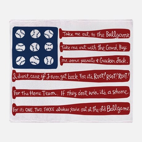 Baseball Flag Throw Blanket