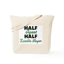 Half Agent Half Zombie Slayer Tote Bag