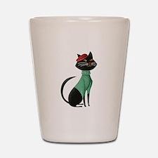 Paris Kitten Shot Glass