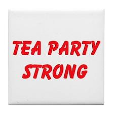 Tea Party Strong Tile Coaster
