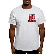 LEG PRESSIN' GEEKS Ash Grey T-Shirt