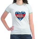 Vote Chuck Hagel 2008 Political Jr. Ringer T-Shirt
