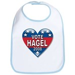 Vote Chuck Hagel 2008 Political Bib