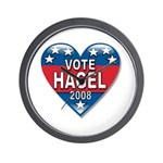 Vote Chuck Hagel 2008 Political Wall Clock
