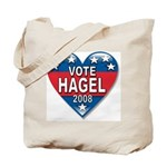 Vote Chuck Hagel 2008 Political Tote Bag