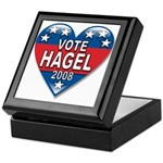 Vote Chuck Hagel 2008 Political Keepsake Box