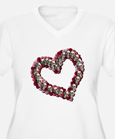 Hearts, Flowers and Skulls Plus Size T-Shirt