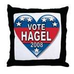 Vote Chuck Hagel 2008 Political Throw Pillow