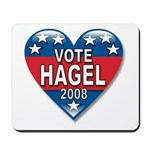 Vote Chuck Hagel 2008 Political Mousepad