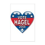 Vote Chuck Hagel 2008 Political Mini Poster Print