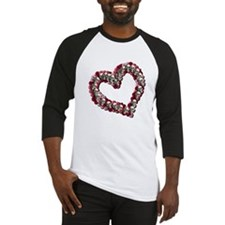 Hearts, Flowers and Skulls Baseball Jersey