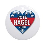 Vote Chuck Hagel 2008 Political Ornament (Round)
