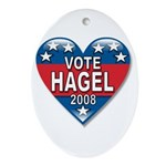 Vote Chuck Hagel 2008 Political Oval Ornament