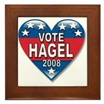 Vote Chuck Hagel 2008 Political Framed Tile